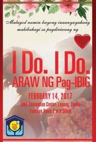 I DO I DO ARAW NG PAGBIG (KASALANG BAYAN) 2017